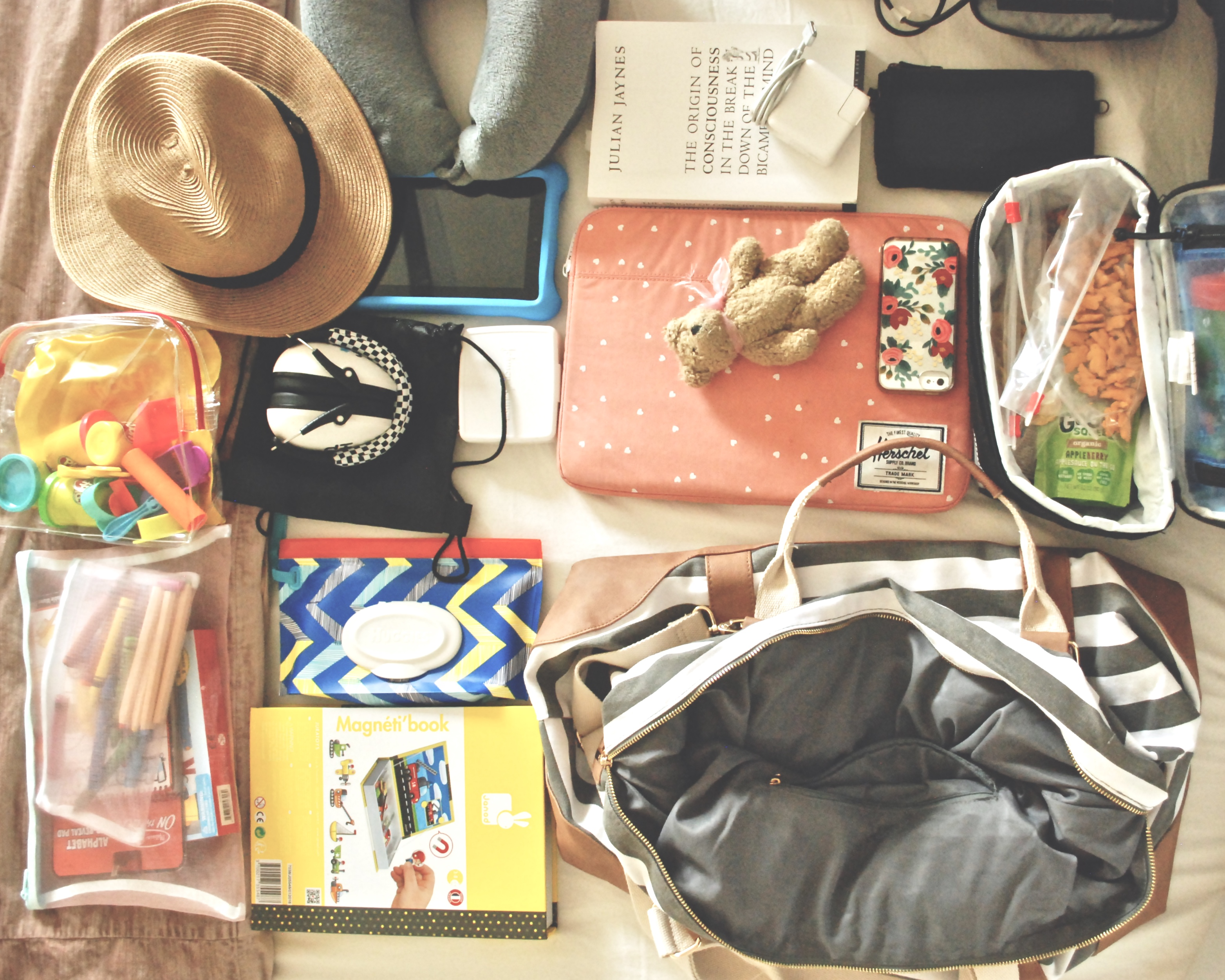 What's in Our Mama + Me Airplane Bag