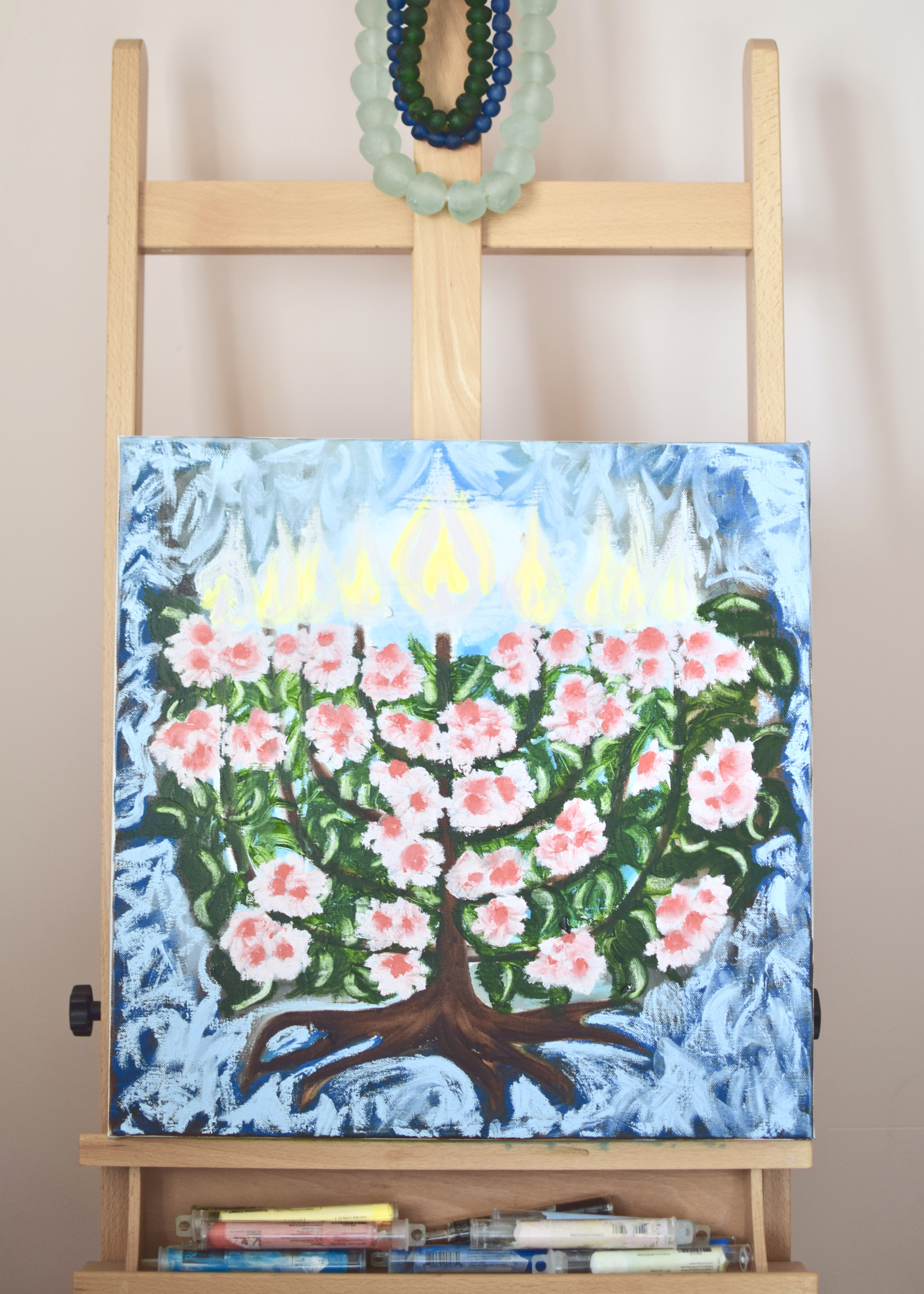 blossoming menorah